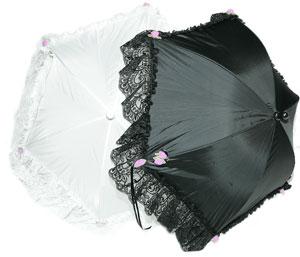 black-frill parasol